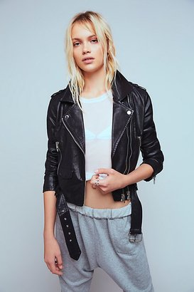 Squad Goals Vegan Leather Jacket by Blank NYC at Free People $128 thestylecure.com