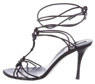 Sergio Rossi T-Strap Pointed-Toe Sandals