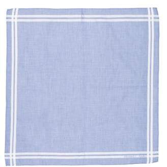 Hermes Striped Woven Pocket Square