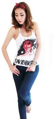 Glam Rock Bunny Brand Women's Ziggy Stardust David Bowie Halter Neck T-shirt