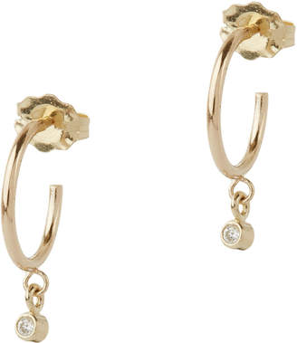 Chicco Zoe Bezel Diamond Dangle Huggie Hoops