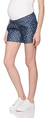 Mama Licious Mamalicious Women's MLMYNTE Woven Shorts A Maternity, Blue Navy Blazer, (Size: Large)