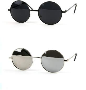 Pop Fashionwear John Lennon Sunglasses Hippie Retro Round Frame Sunglasses P2012 (2 pcs )