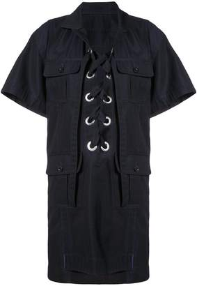 Sacai eyelet laced shirt dress