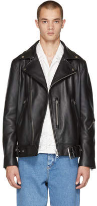Acne Studios Black Nate Clean Leather Jacket