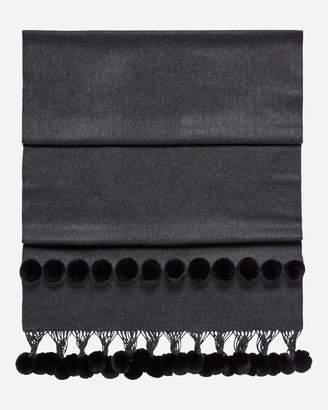 N.Peal Fur Bobble Woven Shawl