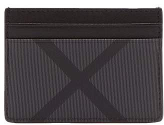 Burberry London Check Leather Trimmed Pvc Cardholder - Mens - Grey
