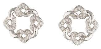 Bvlgari 18K Interlocking Heart Diamond Earrings