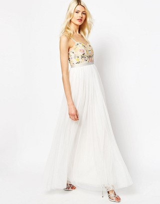 Needle & Thread Embroidery Floral Tulle Maxi Dress $267 thestylecure.com