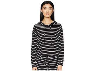 Eberjey Lounge Stripes - The High-Low Hoodie