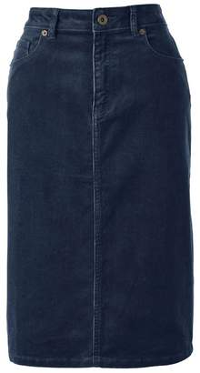 Lands' End Blue 5-Pocket Cord Petite Skirt