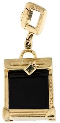 Louis Vuitton 18K Onyx Suitcase Charm