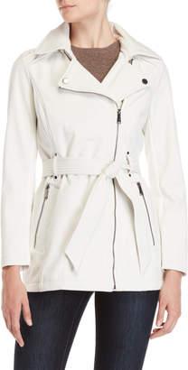 BCBGMAXAZRIA Asymmetrical Belted Jacket