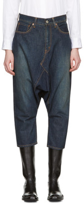 Junya Watanabe Indigo Selvedge Denim Sarouel Jeans $515 thestylecure.com