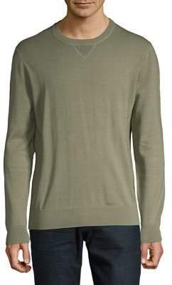 Black & Brown Black Brown Heathered Crewneck Sweater