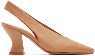 Bottega Veneta Tan Slingback Heels