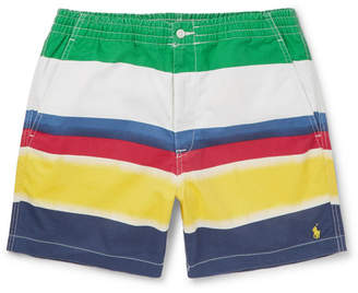 Polo Ralph Lauren Colour-Block Stretch-Cotton Twill Shorts