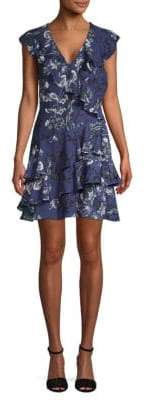 Parker Ruffled Floral A-Line Dress