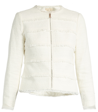 REBECCA TAYLOR Collarless cotton-blend tweed jacket $416 thestylecure.com