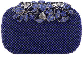 Fawziya Dazzling Leaves Clasp Women Evening Party Bag