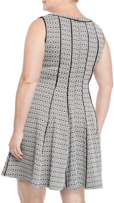 Taylor Sleeveless Fit-and-Flare Dress, Plus Size