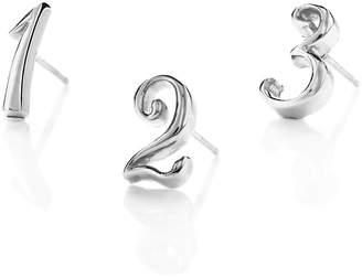 Lulu Frost Code Number Stud Earring Sterling Silver