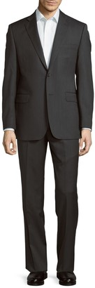 Saks Fifth Avenue Made In Italy Slim-Fit Wool Tonal Herringbone Suit