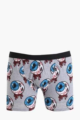 boohoo Halloween Eyeball Print Boxers