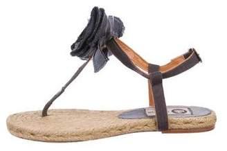 Lanvin Woven Bow Espadrilles