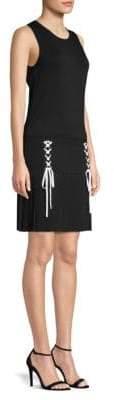 Parker Kennedy Knit Lace-Up Tank Dress