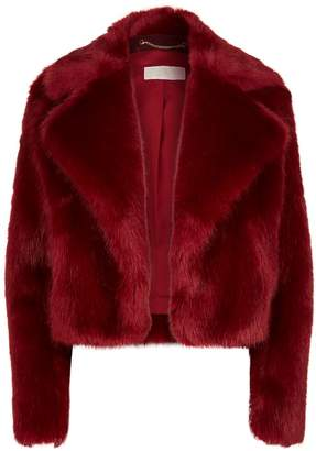 MICHAEL Michael Kors Crop Faux Fur Jacket