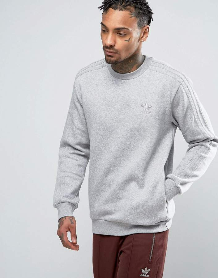 adidas Originals TRF Series Crewneck Sweatshirt In Gray BK5895