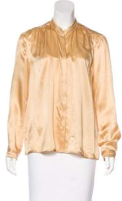 Band Of Outsiders Silk Button-Up Blouse