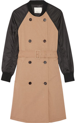 3.1 Phillip Lim - Cotton-gabardine And Shell Trench Coat - Sand $895 thestylecure.com