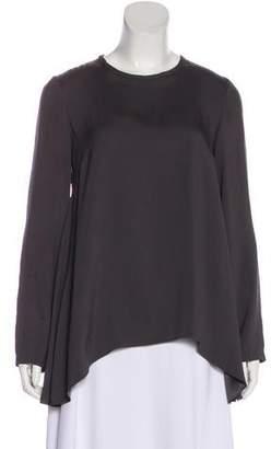 Brunello Cucinelli Silk Long Sleeve Top