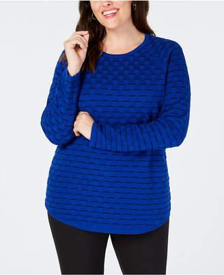 665d5187247 ... SHOP at Macy s · Karen Scott Plus Size Cotton Tuck-Stitch Sweater