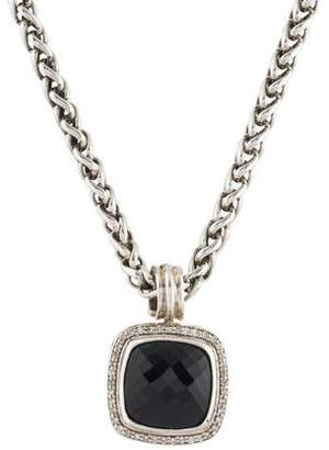 David Yurman Diamond & Onyx Albion Pendant Necklace
