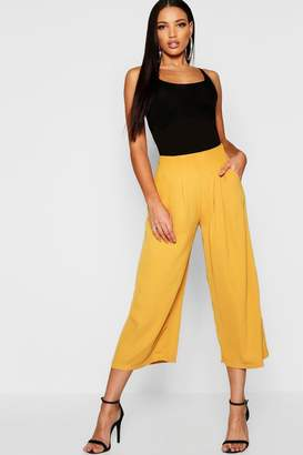 boohoo Pleated Front Woven Wide Leg Culotte