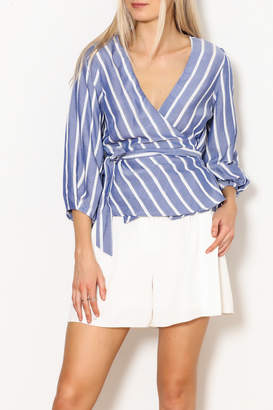 Lucy Paris Striped Wrap Top