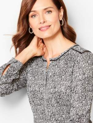 Talbots Textured Spots Top