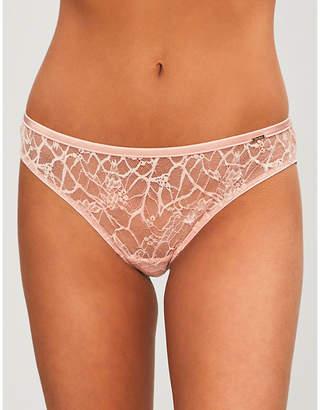 Chantelle Segur stretch-lace and satin tanga briefs