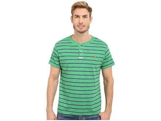 U.S. Polo Assn. Slim Fit Stripe Slub Henley T-Shirt Men's Short Sleeve Pullover