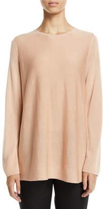 Eileen Fisher Tencel®/Silk Round-Neck Sweater, Plus Size