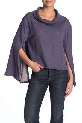 Vintage Havana Cowl Neck Split Sleeve Pullover