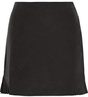 Raoul Pleated Voile Mini Skirt