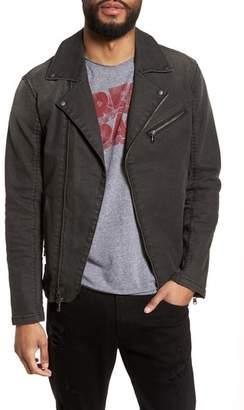 John Varvatos Slim Fit Stretch Moto Denim Jacket