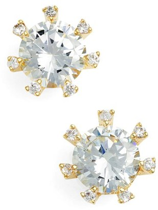 Women's Cz By Kenneth Jay Lane Embellished Prong Cubic Zirconia Stud Earrings $39 thestylecure.com
