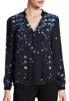 Elie Tahari Amina Silk Floral-Print Blouse $298 thestylecure.com