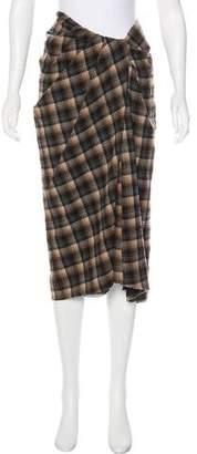 Marc Jacobs Wool Plaid Skirt
