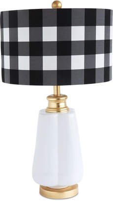 3r Studio Ceramic Table Lamp with Linen Checked Shade